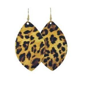 Gold Leopard Metallic Earrings